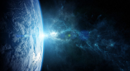 Fototapeta Planet Earth in space 3D rendering elements of this image furnished by NASA
