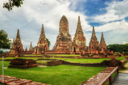 Wat Chaiwatthanaram is ancient buddhist temple, famous and major tourist attract Canvas Print