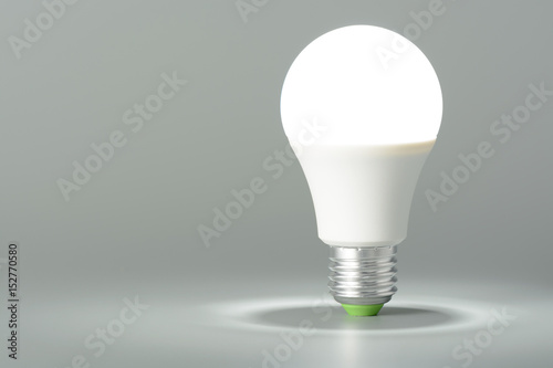 Photo  Glowing led light on gray background