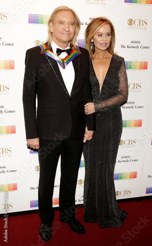 Kennedy Center Honoree Musician Joe Walsh And His Wife Marjorie Bach Arrive For The Honors In Washington