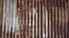 Rusty Metal Roof On Barn At Fa...