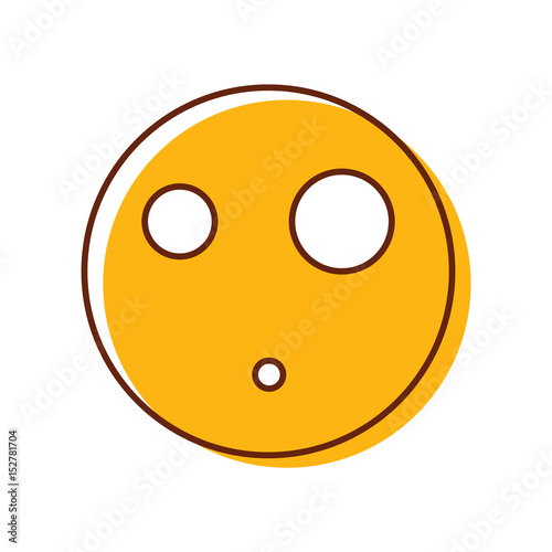 Cool Surprised Emoticon Vector Smiley Emoji Face Buy This Stock