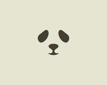 Panda Face Vector Logo. Seal Logotype. Sea Lion Zoo Symbol Icon Design