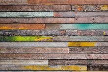 Colorful Vintage Wood Abstract Background