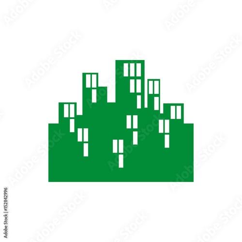 Photo sur Toile Pixel city icon vector illustration. Flat design style