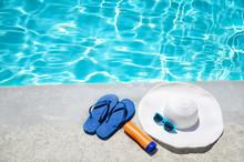 Summer Background With Hat, Su...