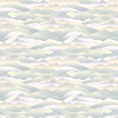 Fototapeta Abstract wave seamless pattern. Mountain skyline background. Landscape texture