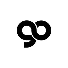 Initial Letter GO Linked Design Logo