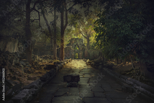 Canvas Prints Ruins Ancient,abandoned temple of Angkor Wat, Cambodia