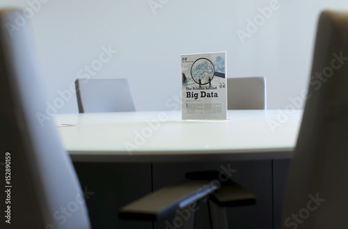 A Sign Sits On A Table In A Conference Room During The Opening Of A Data