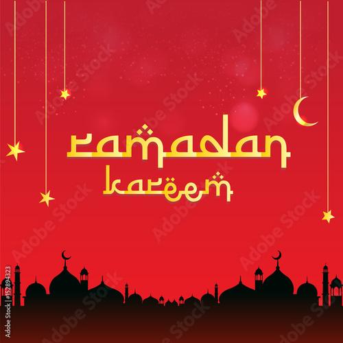 Ramadan kareem beautiful greeting card with red gradient colors the ramadan kareem beautiful greeting card with red gradient colors the muslim feast of the holy m4hsunfo