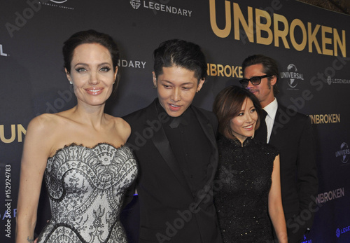 Angelina Jolie Cast Member Miyavi His Wife Melody Ishihara And