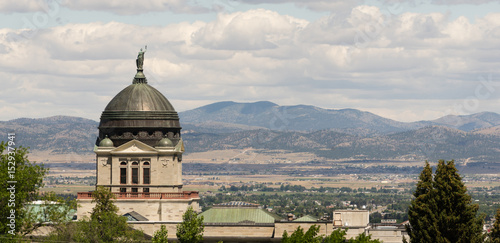 Panoramic View Capital Dome Helena Montana State Building