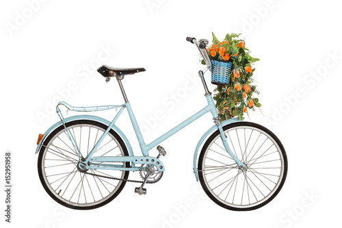 In de dag Fiets Old retro bicycle with flowers