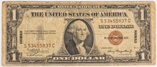 Old US One Silver Dollar Note Hawaii Brown Seal