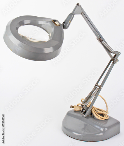 Photo  Desk Magnifying Lamp Metel