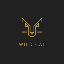Cat Outline Logo. Simple Vector Image