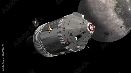 Photo Apollo Command Service Module in space