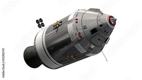 Photo Apollo Command Service Module isolated on white