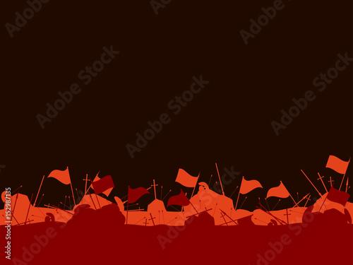 Slika na platnu Medieval battlefield