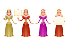 Queen Cute Cheerful Ruler Blan...