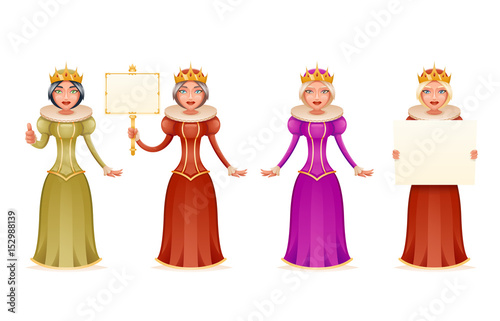 Queen Cute Cheerful Ruler Blank Paper Thumb Up Crown On Head Cartoon Character 3d Realistic Isolated Vector Illustration Buy This Stock Vector And Explore Similar Vectors At Adobe Stock Adobe Stock Set hand drawn cartoon crowns vector. adobe stock