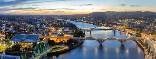Valokuva  Brisbane City, Australia, Beautiful Panorama Aerial View of Kurilpa Bridge, Will