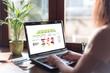 Online shop concept on a laptop screen