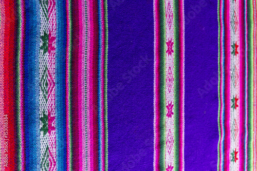Traditional andean tapestry from northern Argentina and Bolivia Canvas Print