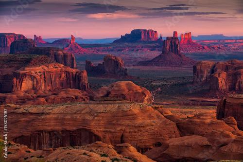 Carta da parati Hunts Mesa navajo tribal majesty place near Monument Valley, Arizona, USA