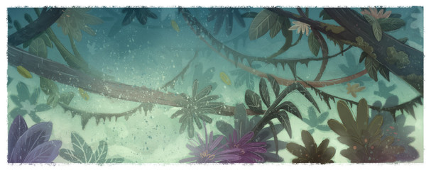 ilustracion de selva