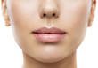 Leinwandbild Motiv Lips, Woman Face Mouth Beauty, Beautiful Skin and Full Lip Closeup, Pink Lipstick
