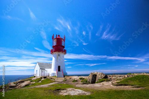 Montage in der Fensternische Leuchtturm Lindesnes lighthouse