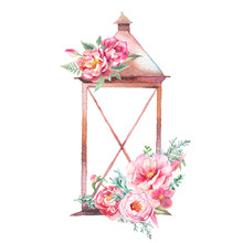 Watercolor Decorative Lantern ...