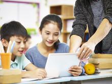 Asian Elementary Schoolchildre...