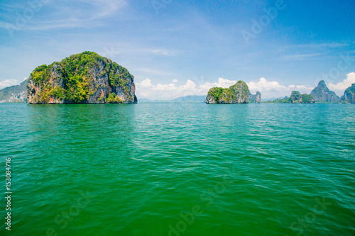 Staande foto Eiland view of island group in Thailand, Phang nga