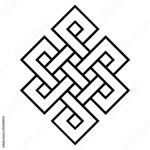 Fotografia  cultural symbol of buddhism endless knot