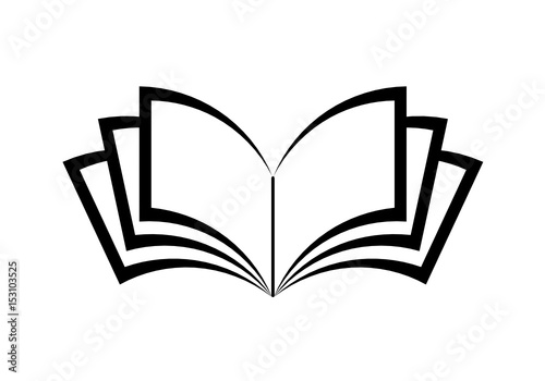 Obraz książka ikona - fototapety do salonu