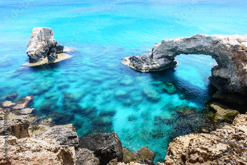 Photo sur Aluminium Turquoise Bridge of lovers in Ayia Napa