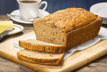 Banana Nut Bread With Butter A...