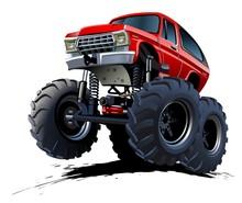 Vector Cartoon Monster Truck. ...