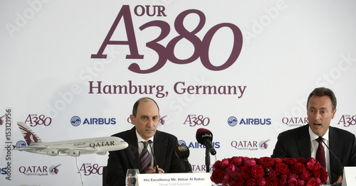 Al Baker CEO of Qatar Airways Group and Bregier CEO of
