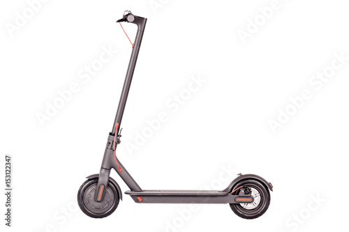 Electric scooter isolated on white background.