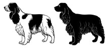 Cocker Spaniel Set 2 - Outline...