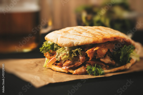Macro of Donner kebab