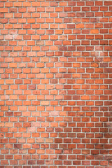 red brick wall as texture or background