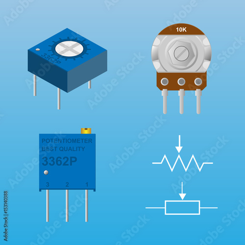 potentiometer with symbol - Buy this stock vector and explore ...