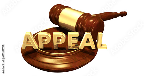 Photo Appeal Law Concept 3D Illustration