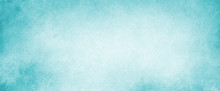 Sky Blue Background With Light White Cloudy Center And Grunge Textured Borders