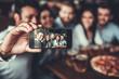 canvas print picture - Friends makes selfie